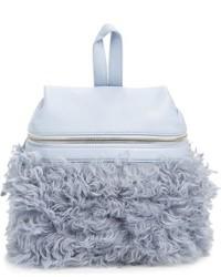 Small genuine shearling backpack blue medium 951896
