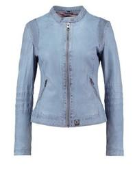 Leather jacket sky blue medium 3993199