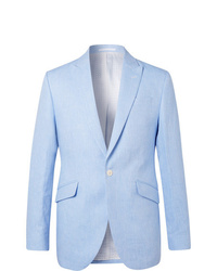 Favourbrook Sky Blue Linen Suit Jacket