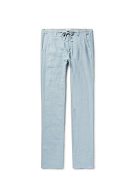 Hartford Troy Slim Fit Linen Drawstring Trousers