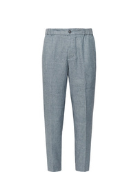 Club Monaco Lex Slim Fit Tapered Mlange Linen Blend Trousers