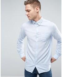 Jack jones originals linen mix long sleeve slim fit button down shirt medium 3748642