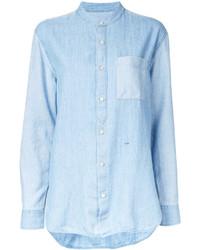 Closed Mandarin Neck Denim Shirt