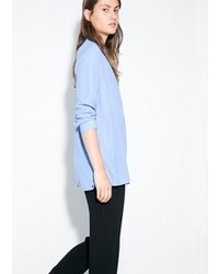 Light Blue Long Sleeve Blouse