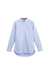 Burberry Check Cuff Cotton Oxford Shirt