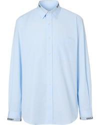 Burberry Logo Detail Cotton Poplin Shirt