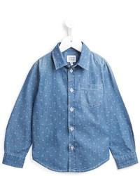 Armani Junior Monogram Denim Shirt