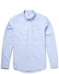 Nn07 New Derek Slim Fit Button Down Collar Cotton Oxford Shirt