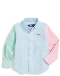 Vineyard Vines Party Whale Woven Sport Shirt