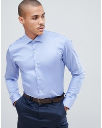 Ted Baker Shirt With Stretch In Blue
