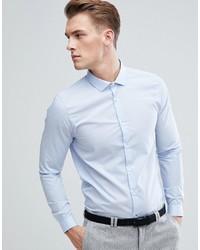 Burton Menswear Skinny Fit Shirt In Blue