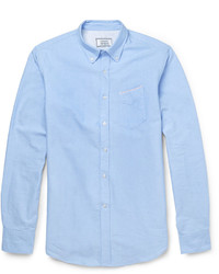Slim fit cotton oxford shirt medium 329317