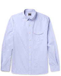 Todd Snyder Slim Fit Button Down Collar Cotton Poplin Shirt