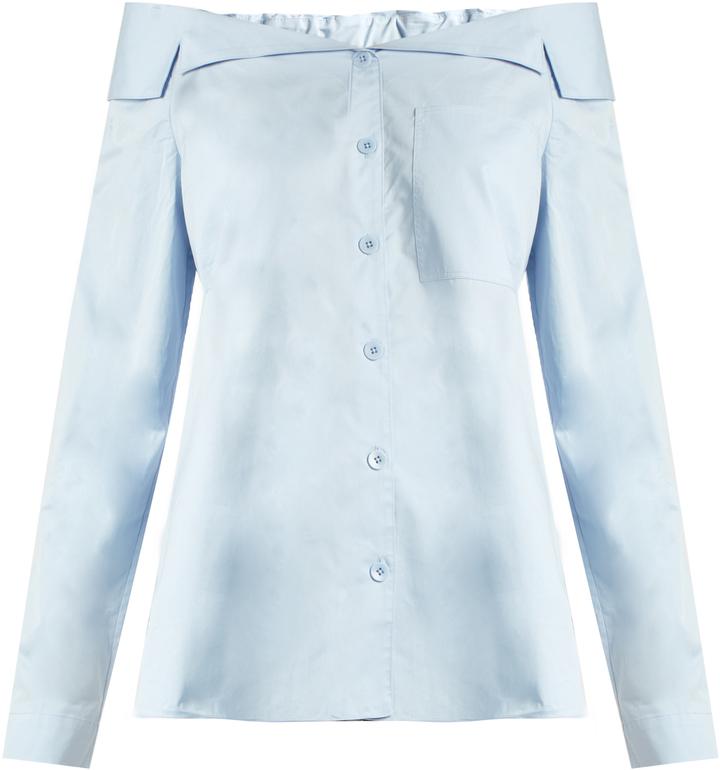 69ea6f1c0bf Off The Shoulder Button Through Cotton Top