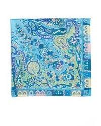 Usa paisley silk pocket square medium 33198