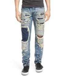 Light Blue Patchwork Jeans
