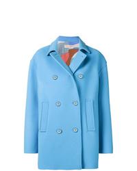 Emilio Pucci Blue Double Breasted Pea Coat