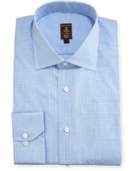 Light Blue Plaid Dress Shirt