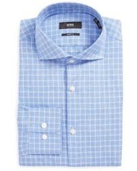 BOSS Mark Us Sharp Fit Plaid Dress Shirt