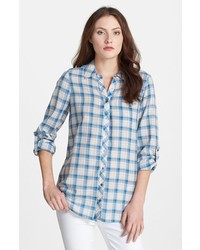 Joie Moshina Plaid Shirt Nineties Blue X Small
