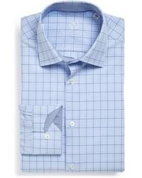 Bugatchi Shaped Fit Glen Plaid Dress Shirt