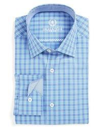 Bugatchi Shaped Fit Plaid Dress Shirt