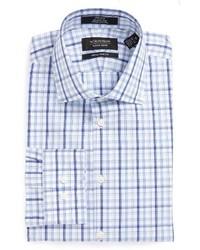 Nordstrom Shop Extra Trim Fit Non Iron Plaid Dress Shirt