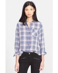 The slim boy plaid shirt medium 347516