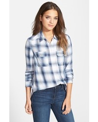Trudy button front plaid shirt medium 347532