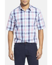 Nordstrom Regular Fit Plaid Short Sleeve Sport Shirt