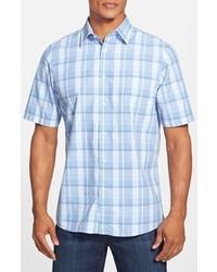 Nordstrom Regular Fit Short Sleeve Casual Plaid Sport Shirt