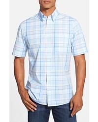 Nordstrom Regular Fit Short Sleeve Plaid Sport Shirt