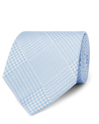 Emma Willis 9cm Prince Of Wales Checked Silk Twill Tie