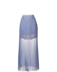 Ermanno Scervino Lace Panel Maxi Skirt