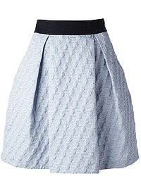 Pinko Pleated Jacquard Skirt