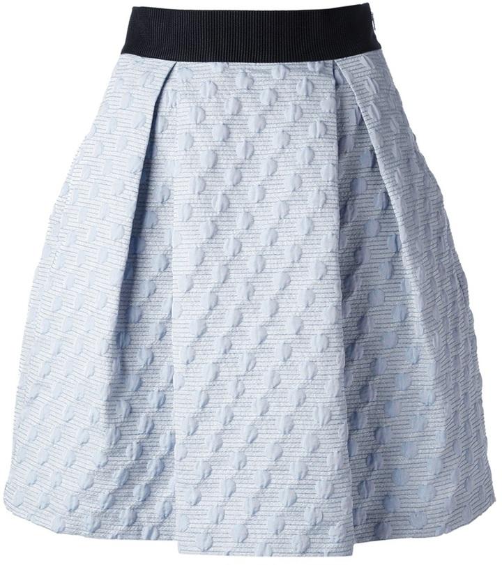 6993e2310e Pinko Pleated Jacquard Skirt, £182 | farfetch.com | Lookastic UK