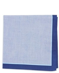 Calibrate solid chambray pocket square medium 654068