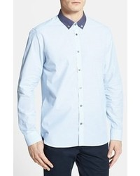 Light Blue Polka Dot Dress Shirt
