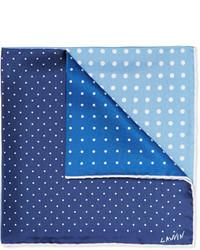 Polka dot silk pocket square medium 601015