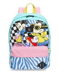 Light Blue Print Backpack