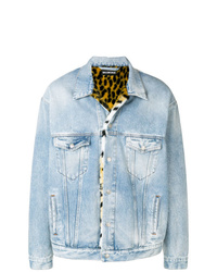 Light Blue Print Denim Jacket