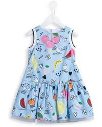 Simonetta Fruit Print Dress