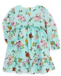 Gucci Infant Girls Floral Print Long Sleeve Dress