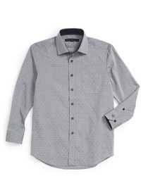 Report Collection Diamond Print Dress Shirt