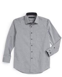 Report Collection Diamond Print Dress Shirt