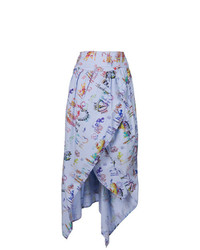 Vivienne Westwood Anglomania Printed Asymmetric Midi Skirt