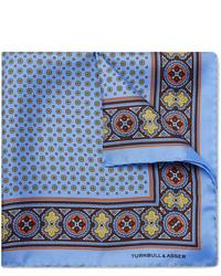 Turnbull & Asser Printed Silk Twill Pocket Square