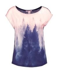 Anna Field Forrest Print T Shirt Rosedark Blue