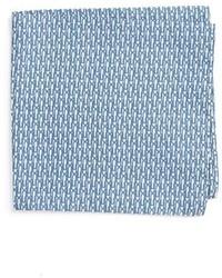 Eton Paperclip Print Silk Pocket Square
