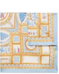 Rubinacci Printed Silk Twill Pocket Square
